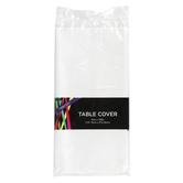 Brother Sister Design Studio, Plastic Table Cover, White, Rectangle, 54 x 108 Inches, 1 Each