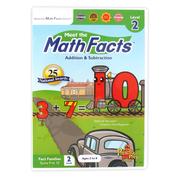 Preschool Prep Company, Meet the Math Facts Addition and Subtraction Level 2 DVD, Ages 2-8 Years