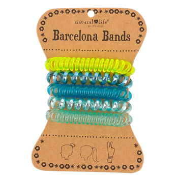 Natural Life, Barcelona Bands, Plastic, Blue and Green 1 1/2 inches