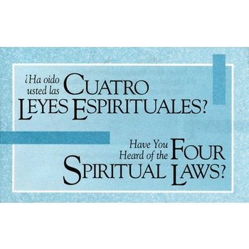 Four Spiritual Laws, Spanish and English Tracts, Set of 25