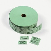 Fun Express, Coupon Double Roll Tickets, 2 x 2 Inches, Green, 1000 Roll