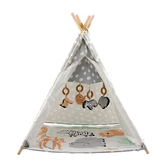 Wonder & Wise, Jungle Baby Activity Teepee, Cotton & Polyester, 35 x 43 x 35 inches