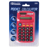 Bazic Products, 8-Digit Pocket Calculator, 2 1/2 x 4 1/2 inches