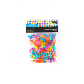 Tree House Studio, Plastic Letter Charms A-Z, 17mm, Assorted Colors, 260 count
