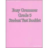 Easy Grammar Grade 5 Student Test Booklet