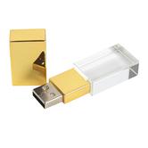 Fiddlestix Paperie, Flash Drive, Gold & White, 16 Gigabytes, 3/4 x 2 1/4 inches