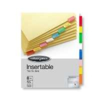 Insertable Index 8/Tab Multicolored