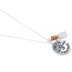 Bella Grace, Matthew 17:20, Faith Can Move Mountains Charm Necklace, Iron, Silver, 18 inch Chain