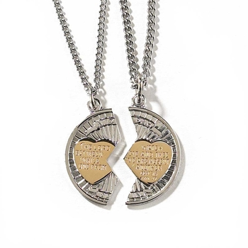 Dicksons, Mizpah Pendant Necklaces, Silver Plated, 18 and 24 inches, 2 Necklaces