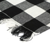 Buffalo Check Place Mat with Fringe, Black and White, 13 x 21 1/4 inches