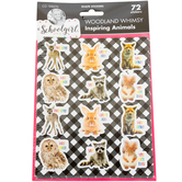 Schoolgirl Style, Inspiring Animals Shape Stickers, Die-Cut Photographs, Multi-Colored, 72 Pack