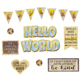 Teacher Created Resources, Travel the Map Mini Bulletin Board Set, Motivation, 24 Pieces