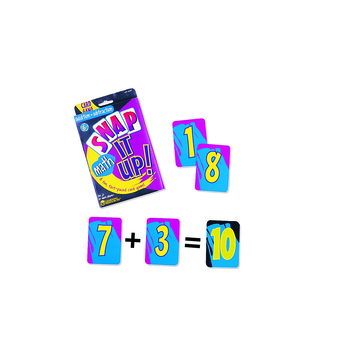 Learning Resources, Snap It Up! Addition/Subtraction Math Card Game, Grades 2 and Up, 2 to 4 Players