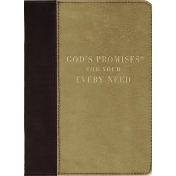 God's Promises for Your Every Need, NKJV Deluxe Edition, Leather, Tan