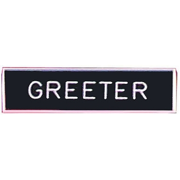 Greeter Badge (Safety Catch)