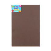 Silly Winks, Thick Foam Sheet, 12 x 18 inches, Brown