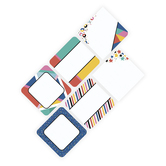 Colorfetti Collection, Jumbo Cutouts, 10-Inch Squares, 6 Assorted Designs, 12 Pieces