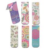 Brother Sister Design Studio, Floral Scripture Magnetic Bookmarks, 1 Each of 6 Designs