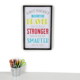 Isabella Collection, Always Remember You Are Braver Stronger Smarter Wall Decor, 12 1/2 x 19 1/2 Inches