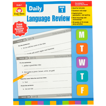 Evan-Moor, Daily Language Review, Grade 1, Teacher's Edition, Paperback, 136 Pages