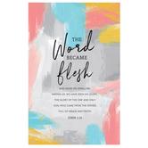 Salt & Light, John 1:14 The Word Became Flesh Church Bulletins, 8 1/2 x 11 inches Flat, 100 Count