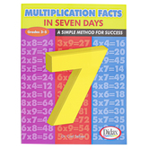 Didax, Multiplication Facts In 7 Days Workbook, Reproducible Paperback, 32 Pages, Grades 3-5