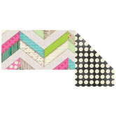 Renewing Minds, Double-Sided Border Trim, 38 Feet, Multi-Colored Chevron and Dots