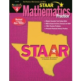 Newmark Learning, STAAR Mathematics Practice: Grade 4, 8.5 x 11 Inches, Paperback, 176 Pages