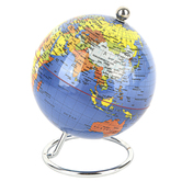 Heebie Jeebies, Small Classic Desktop Globe on Silver Stand, 4 Inches, Grades 5 and up