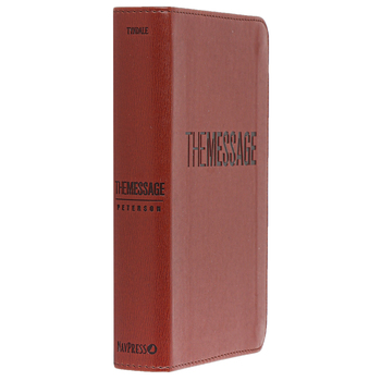 MSG The Message Compact Bible, Imitation Leather, Tan