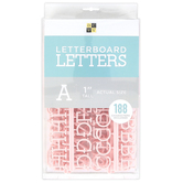 DCWV, Letterboard Letters, Plastic, Pink, 1 inch, 188 Letters