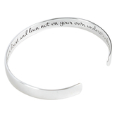 Dicksons, Proverbs 3:5, Trust In The Lord Cuff Bracelet, Silver, 2 1/2 inches