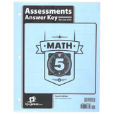 BJU Press, Math 5 Assessments Answer Key, 4th Edition, 36 Pages, Paperback, Grade 5