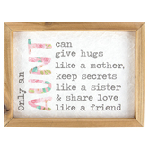 Only An Aunt Wall Plaque, MDF, 6 x 8 inches
