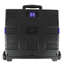 Mardel, Rolling Cart, Black and Purple, 16.5W x 14.9D x 16.1H Inches, 1 Each