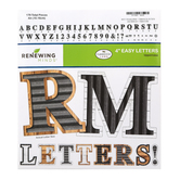Farmhouse Lane Collection, Metal and Wood Bulletin Board Letters, Uppercase, 4 Inches, 179 Pieces