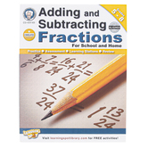 Carson-Dellosa, Adding and Subtracting Fractions Workbook, Reproducible Paperback, 64 Pages, Grades 5-8