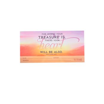 Salt & Light, For Where Your Treasure Is Envelopes, 6 1/4 x 3 1/8 inches, 100 Envelopes