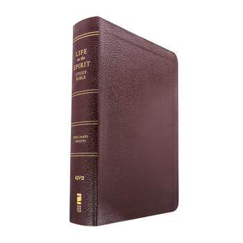 KJV Life in the Spirit Study Bible, Bonded Leather, Burgundy