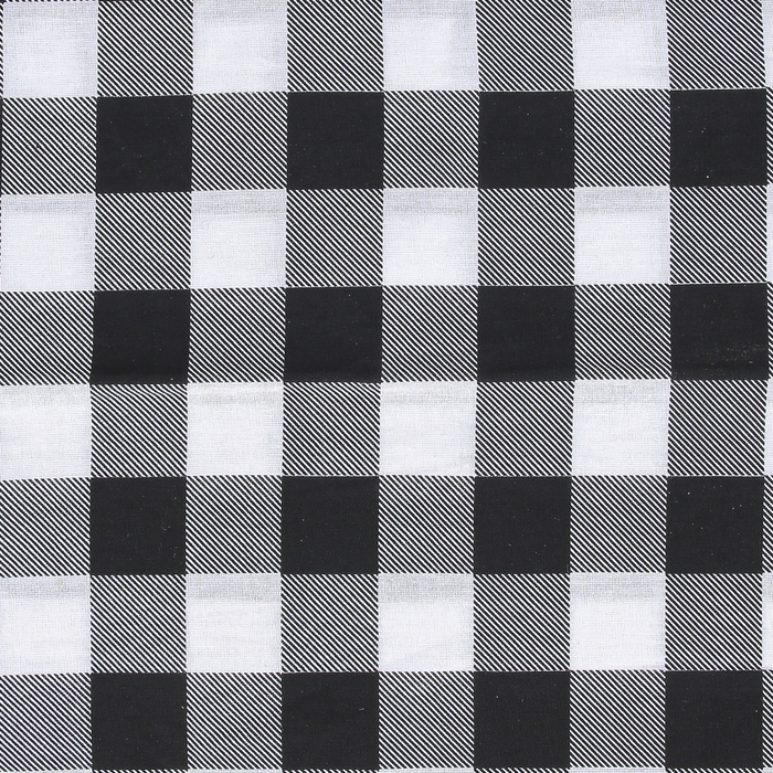"22/""x22/"" Black and White Checkered Bandana Bandanna"