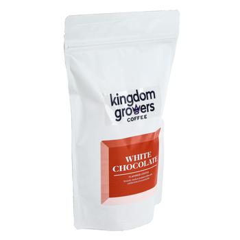 Kingdom Growers Coffee, White Chocolate Coffee Grounds, 12 ounces