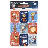 Eureka, Peanuts® NASA Giant Stickers, Multi-Colored, 1 1/4 x 1 3/4 Inches, 36 Stickers