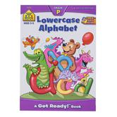 School Zone, Lowercase Alphabet Deluxe Preschool Workbook, Paperback, 64 Pages, Grades PreK-K