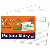 Pacon, Picture Story Chart Tablet, 24 x 16 Inches, White, 25 Sheets