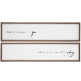 Designs Direct Creative Group, Where You Go Wall Plaque, 37 x 9 1/4 x 1 1/2 inches, 2 Pieces