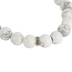 H.J. Sherman, Blessed Beaded Stretch Bracelet, Genuine Howlite, White