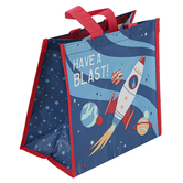 Stephen Joseph, Have A Blast Rocket Ship Recycled Gift Bag, 9 1/2 x 9 x 5 1/2 inches