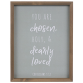 Colossians 3:12 You Are Chosen Wall Decor, MDF, Brown and Gray, 13 3/4 x 10 3/4 x 1 1/8 inches