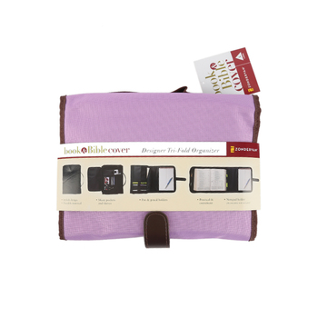 Zondervan, Designer Tri-Fold Bible Cover, Purple, Large