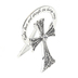 Alexa's Angels, God's Love & Strength Are Always Near Bedside Cross, Zinc, Silver, 3 x 2 inches